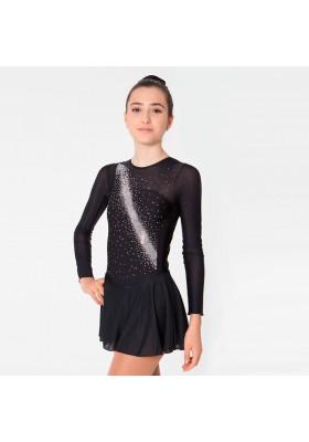 Maillot patinaje Vega - Negro