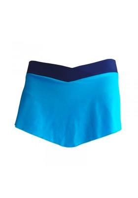 Falda patinaje Mix Azul