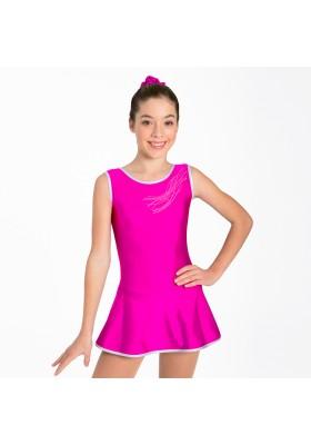 Maillot patinaje Rebeca - Fucsia