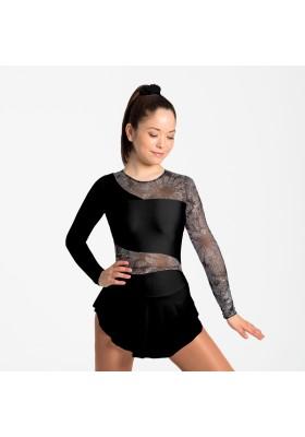 Maillot patinaje Ona - Negro